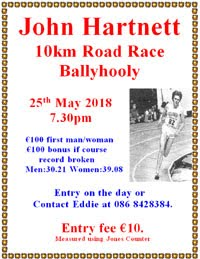 10k nr Fermoy in NE Cork... Fri 25th May 2018