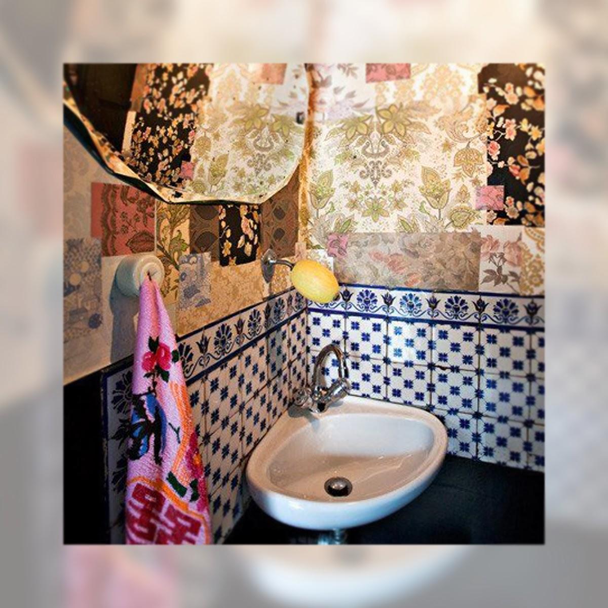 Una casa de aires Boho Chic, La Musa Decoración, Baño, Bathroom