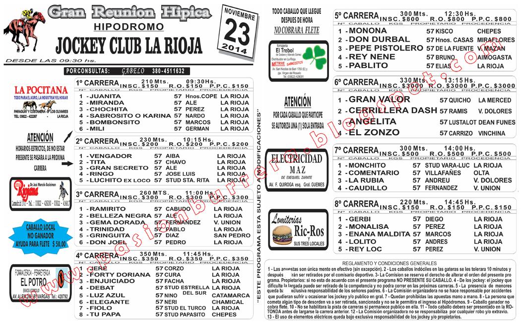 LA RIOJA - 23 - PROGRAMA