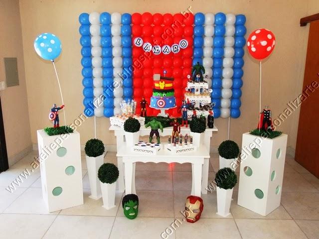 decoracao festa boteco porto alegre:decoração de festa infantil de aniversário Os Vingadores