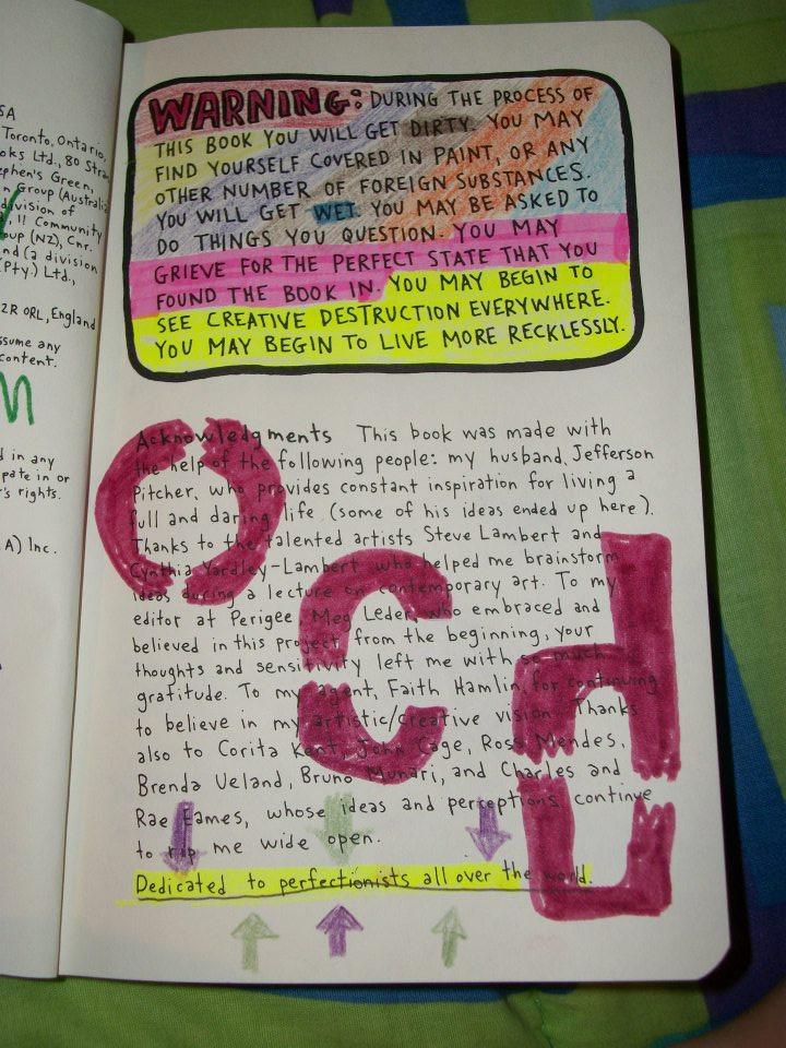 Wreck This Journal Pages List Trina Is Artsy Fartsy