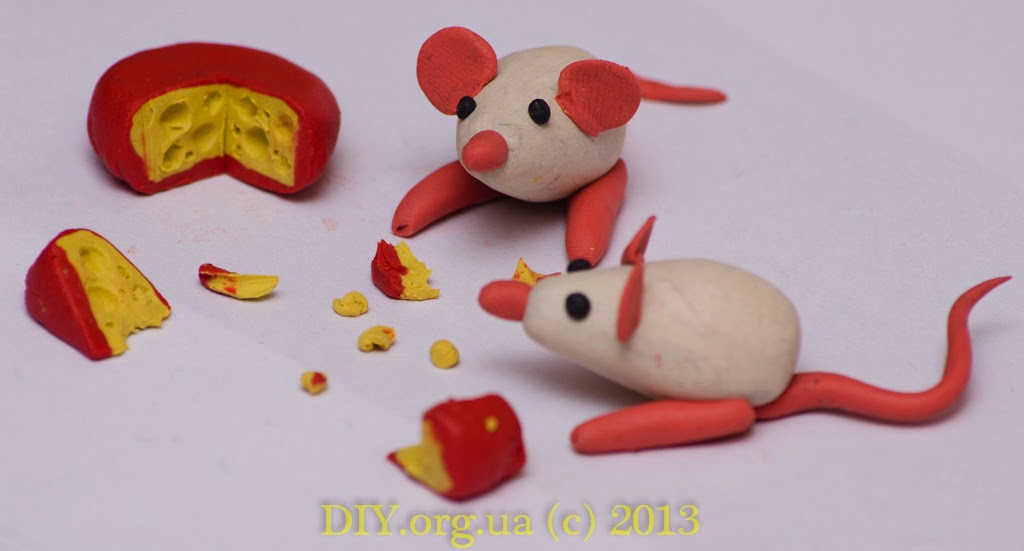 Как сделать из пластилина мышка 196