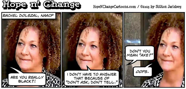 obama, obama jokes, political, humor, cartoon, conservative, hope n' change, hope and change, stilton jarlsberg, rachel dolezal, black, white, naacp
