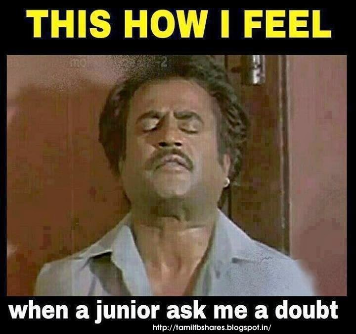 Funny Meme Facebook Comments : Tamil fb shares this how i feel when a junior ask me doubt
