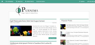 Purnima Blogger Template