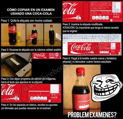 Como copiar en un examen con una Coca-Cola