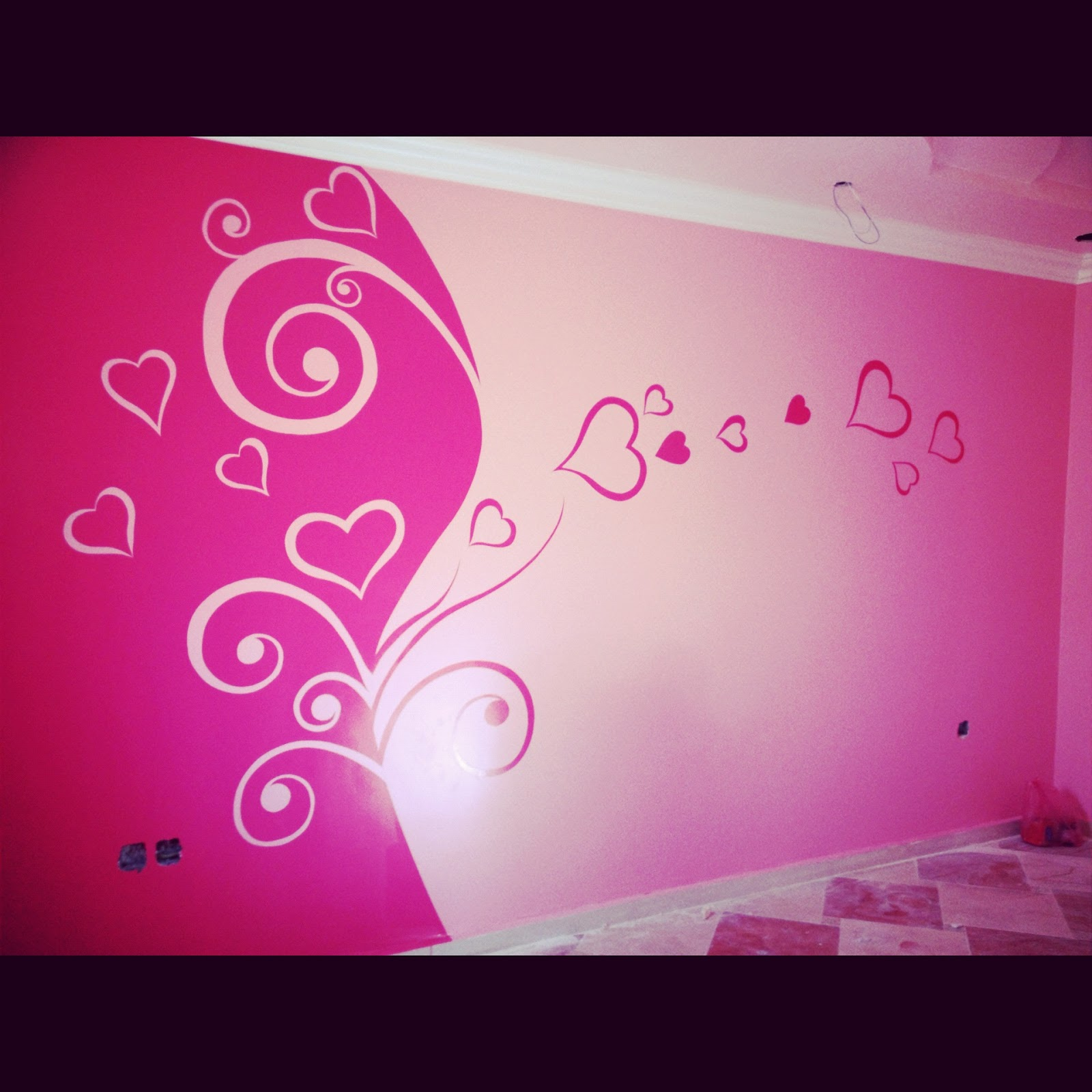 Wall design ideas stencil and hand painted wall stencil and hand painted wall wall design ideas amipublicfo Image collections