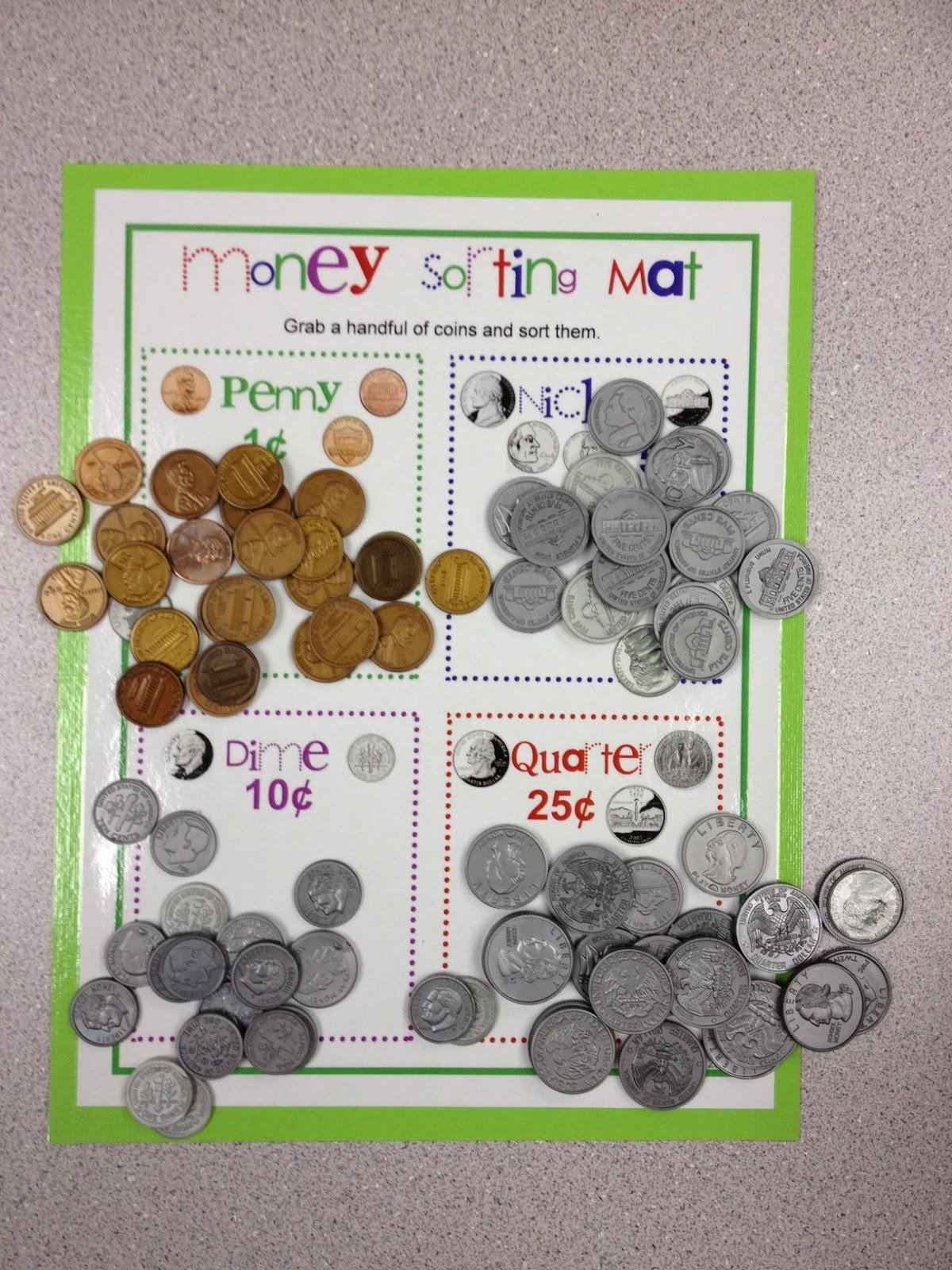 money activities for preschool mrs hodge and kindergarten money sorting mat 488