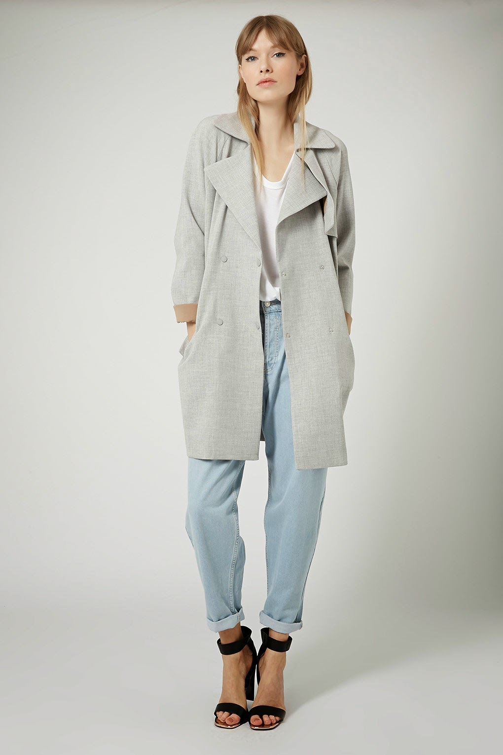 topshop grey mac, topshop grey trenchcoat, grey belted mac,