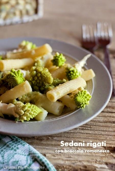 Sedani rigati con broccolo romanesco