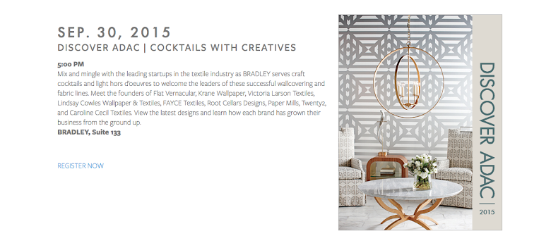 EXCITNG FALL NEWS: Root Cellar Designs will be at ADAC presenting in the Bradley Showroom