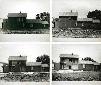 Bingo, 1974. Four black and white photographs, 29 x 32 x 1 in., each
