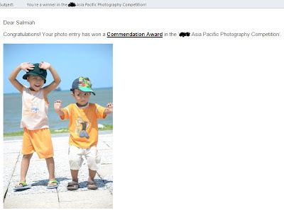 Syukur....menang Photo Contest !!!