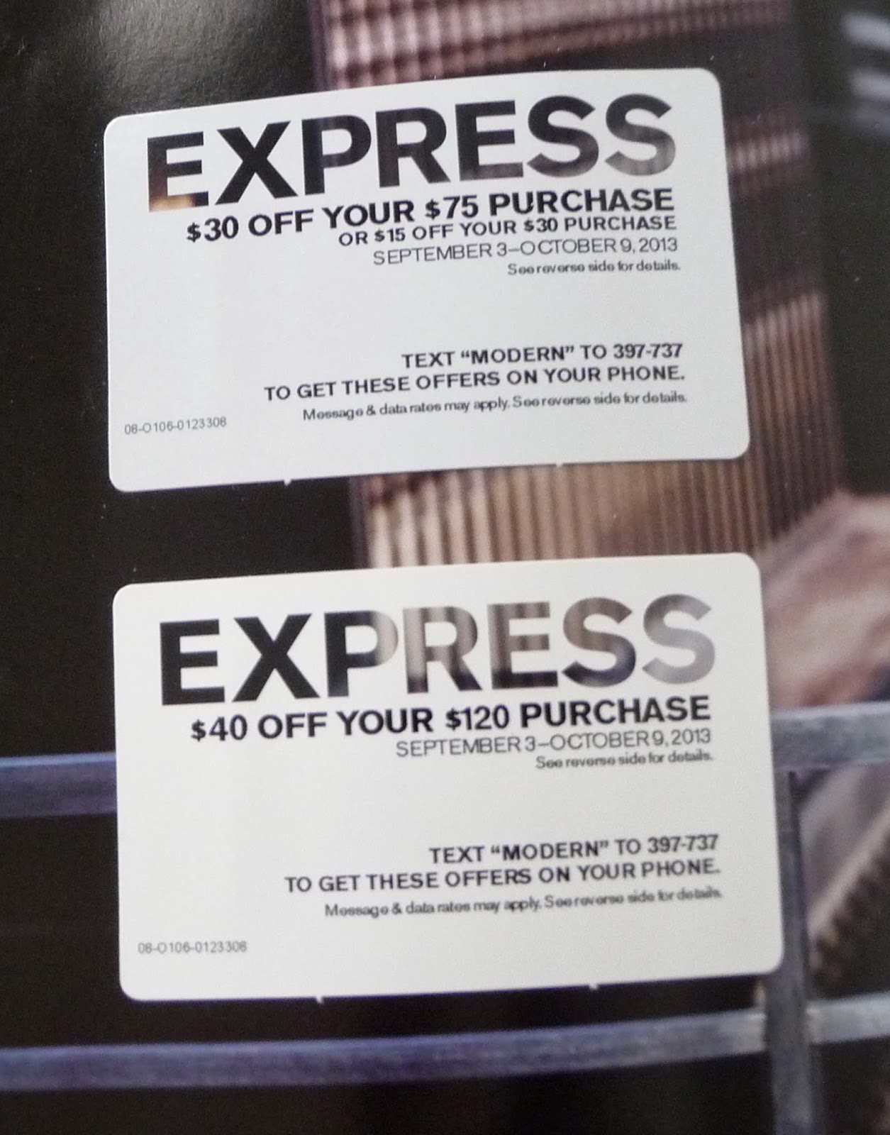 how to get express coupons in the mail