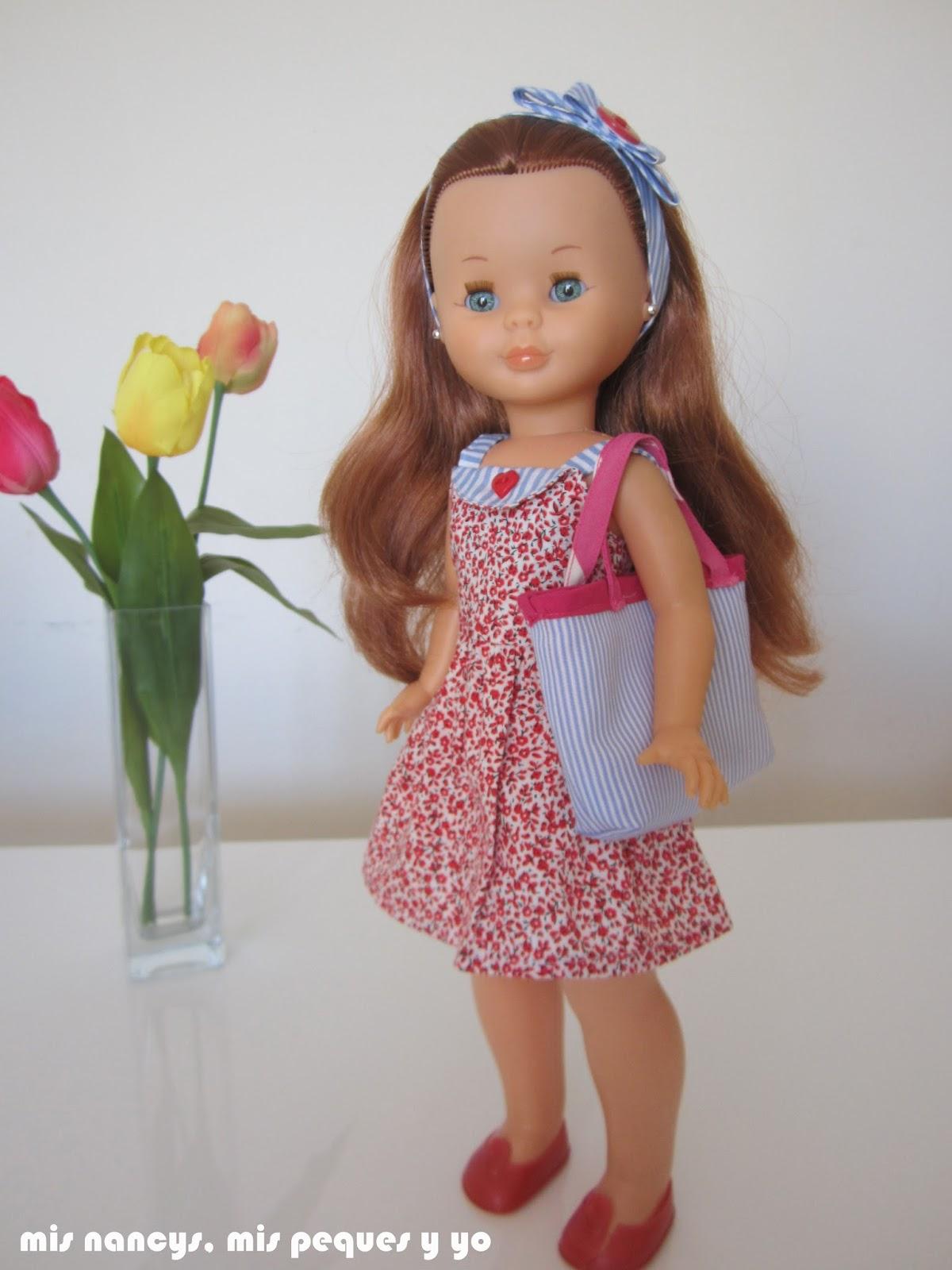 mis nancys, mis peques y yo, vestidos primavera para nancy de anilegra, complementos bolso y diadema