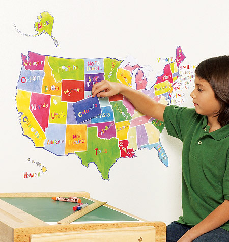 This Interactive Usa Map Has Peel And Stick States To Help Kids Learn All 50 States Of Our Great Big United States The Individual States Can Be Stuck