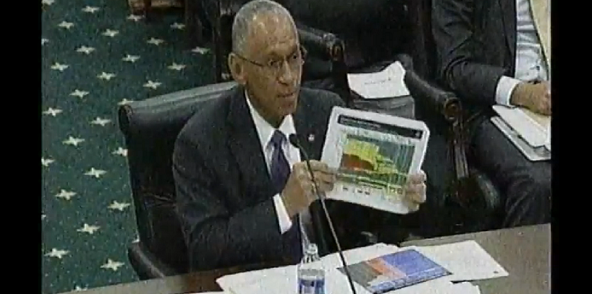 Charles Bolden at the House Appropriations Committee Subcommittee on Commerce, Justice, Science, and Related Agencies hearing on NASA's budget and oversight of NASA security on April 8, 2014. Credit: house.gov