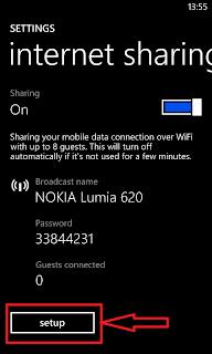Nokia Lumia WiFi Hotspot