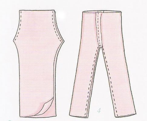 Как сшить штаны кукле барби