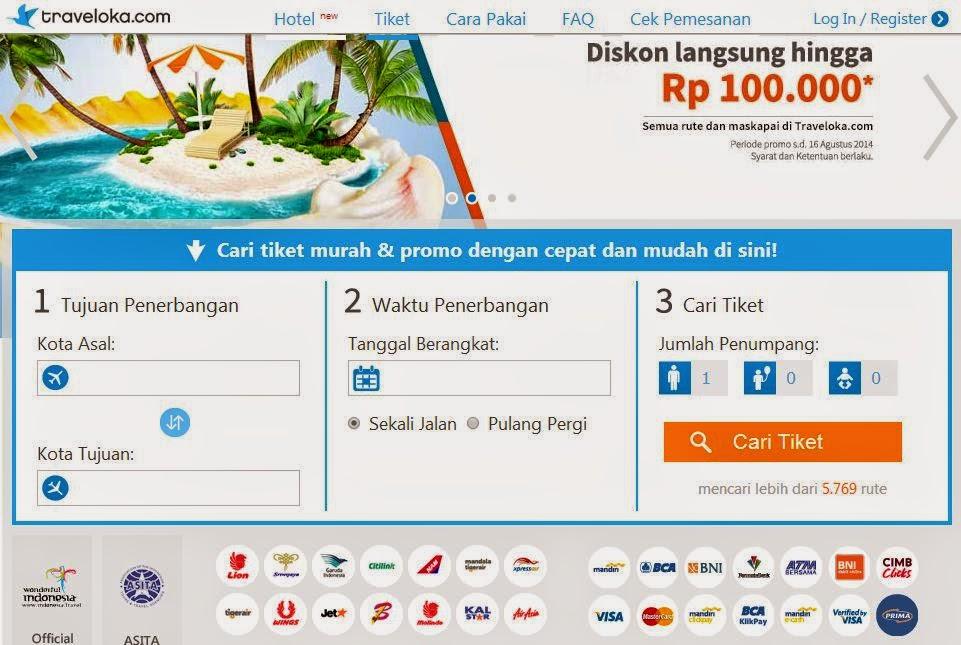 Cara Pesan Tiket Pesawat Online Lewat Traveloka