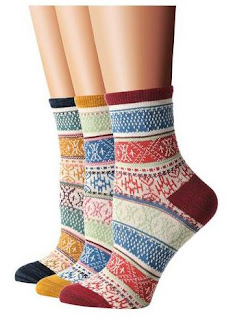 Flora&Fred Womens Vintage Style Cotton Crew Socks