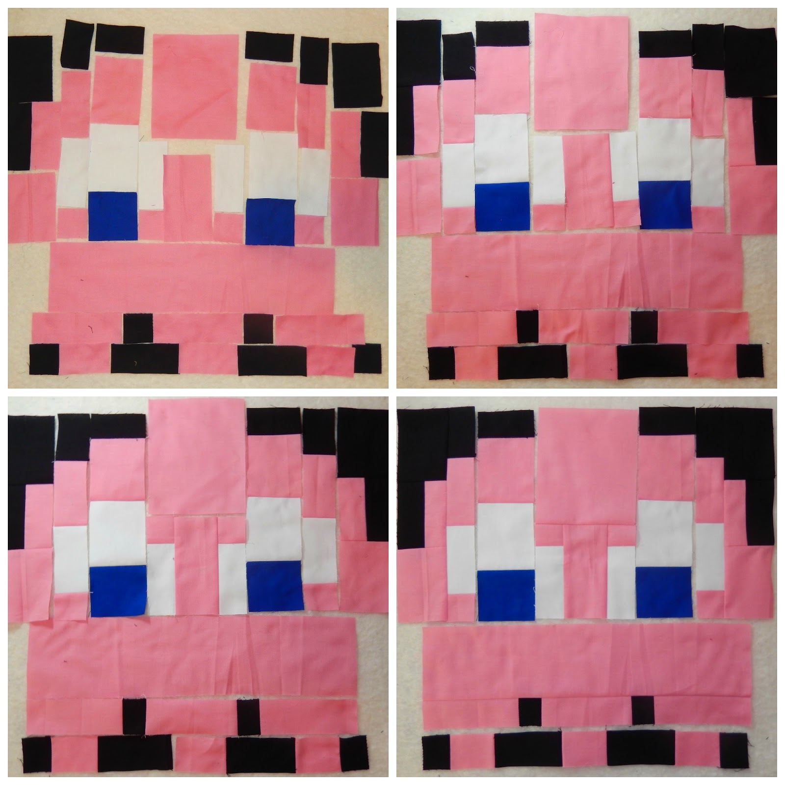 Pinky Pac Man Ghost Quilt Block by Afton Warrick @ Quilting Mod