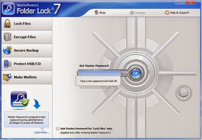 Folder Lock 7 Interface Image