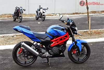 modifikasi Yamaha Byson model Ducati