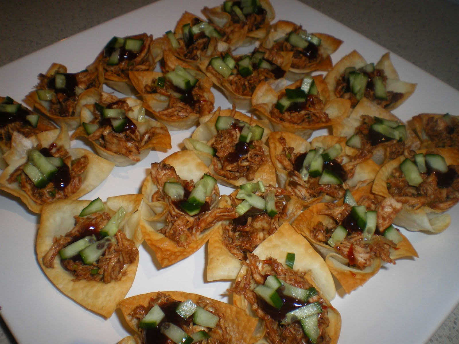 Cate can cook so can you hoi sin chicken canapes for Canape fillings