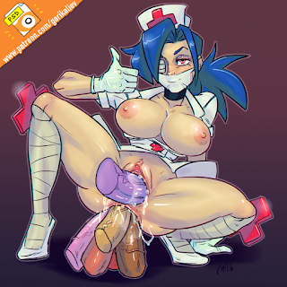 skullgirls adult fanart naked valentine the dirty nurse multiple dildoes extreme anal
