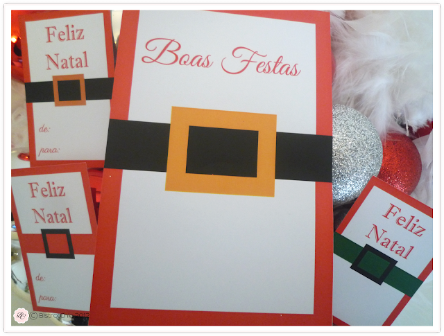 Christmas free card with santa claus costume from BistrotChic