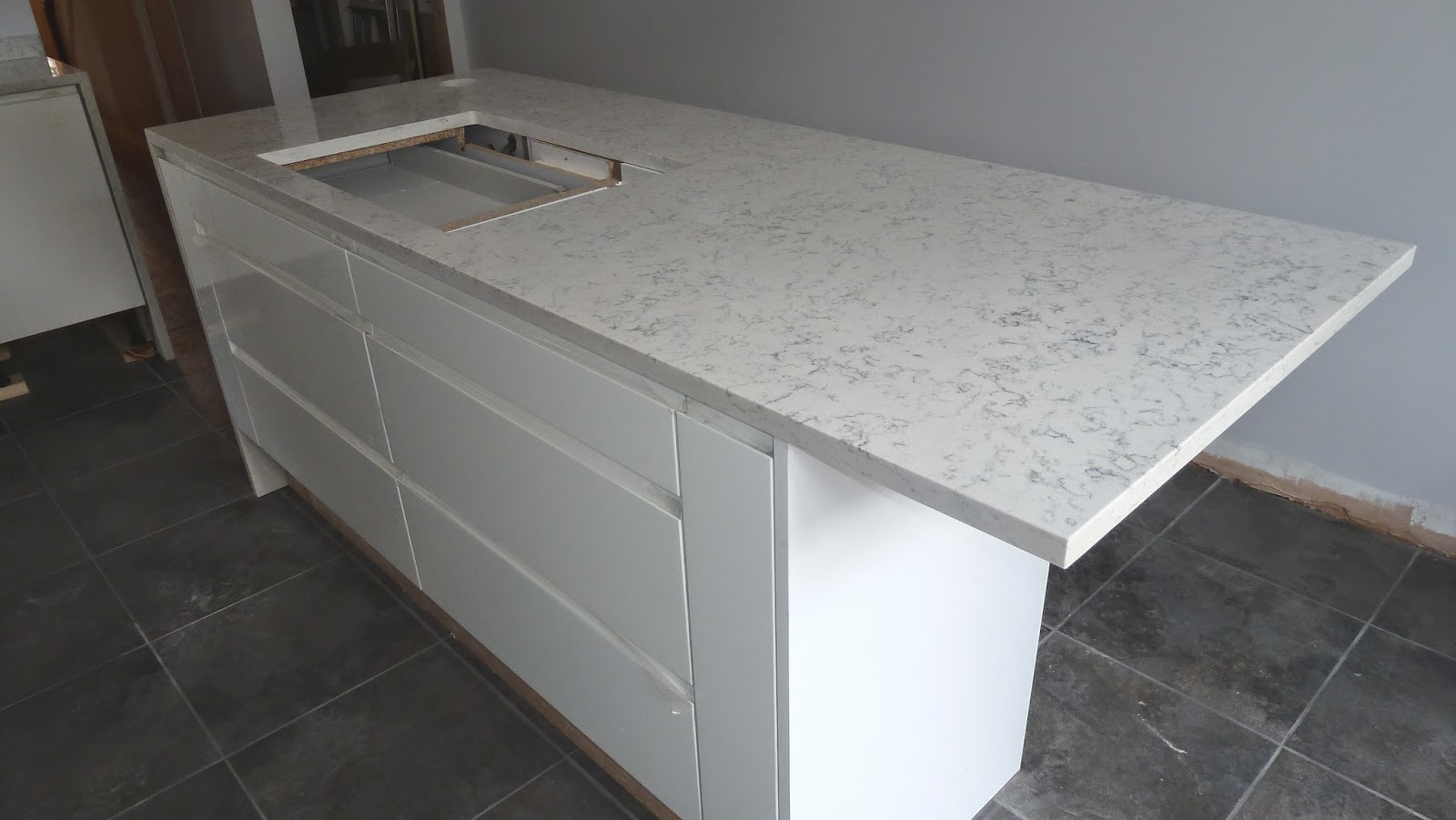 my victorian terrace refurb kitchen progress quartz worktops