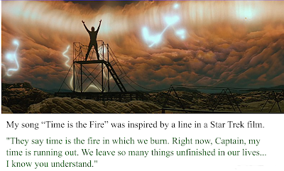 """Inspiration for the song """"Time is the Fire"""""""