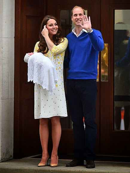 The  Duke and  Duchess of Cambridge have a little princess