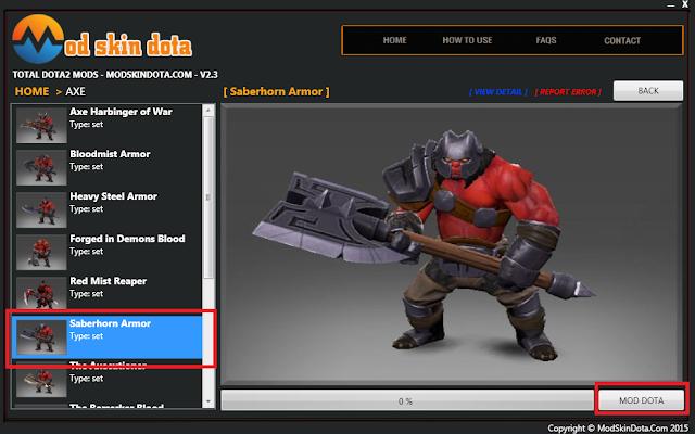 [Mod Dota] Saberhorn's Armor