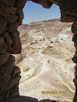 Roman ramp from which a siege tower with battering ram finally pierced Masada (Israel)