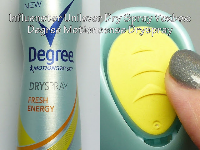 Degree Motionsense Dryspray Influenster VoxBox