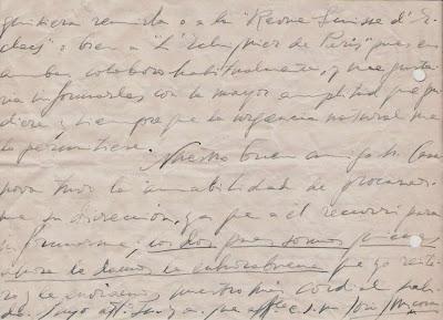 Carta manuscrita de José Juncosa Molins  a Ángel Ribera, 1951 (2)