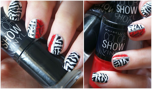 Animal Print Nail Art with Color Show Vinyl LE Lacquer