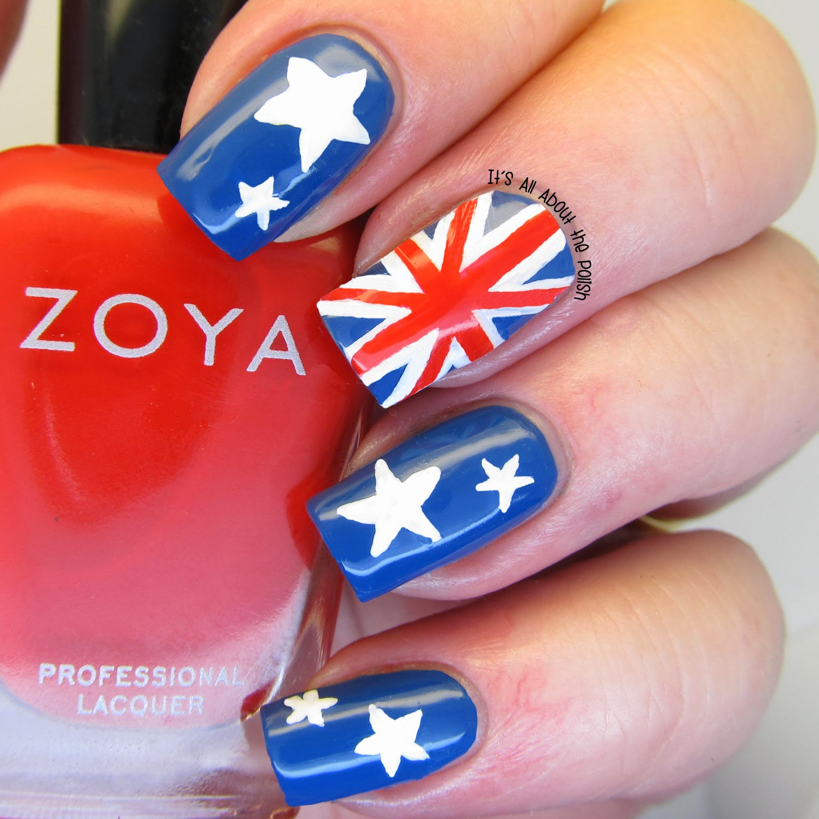It's All About The Polish: Australian Flag Nails