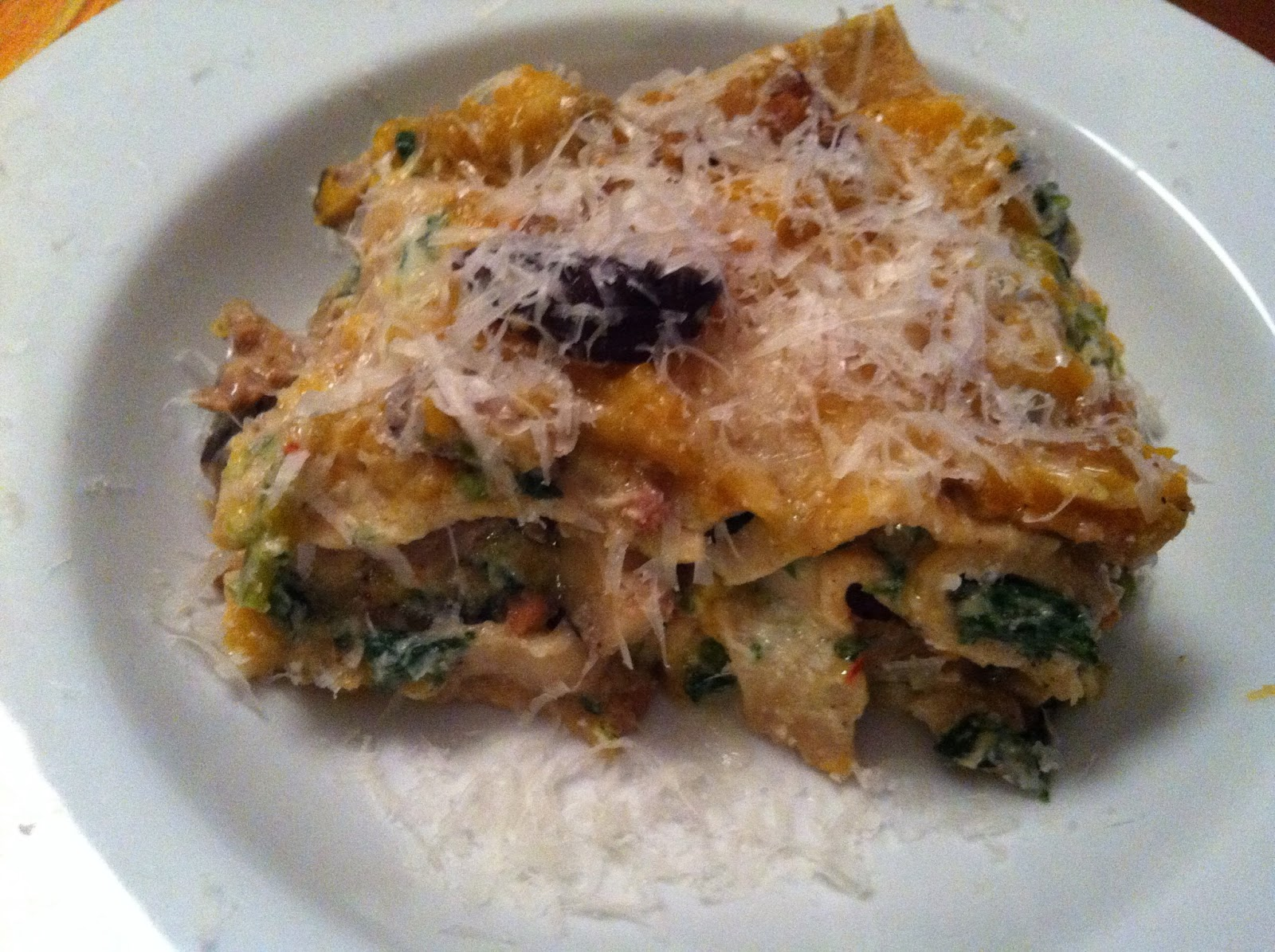 as good as bread: Butternut Squash Lasagna with Sausage ...