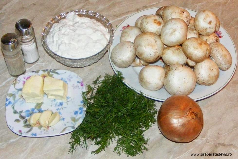 ingrediente ciulama de ciuperci cu smantana, ingrediente tocanita de ciuperci cu smantana, retete culinare, retete de mancare, retete cu ciuperci, preparate din ciuperci,