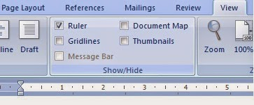how to show ruler in word mac