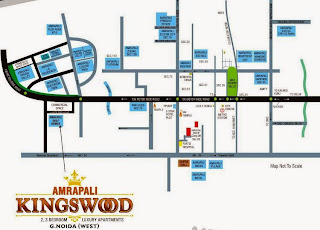 Amrapali Kings Wood :: Location Map