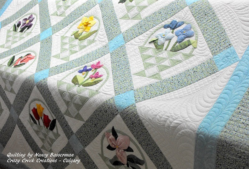 Basket Quilt - Hand Appliqued by Pat