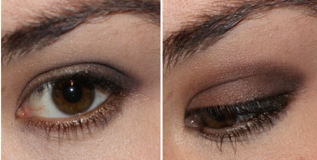 A dark smokey look created with the balm nude tude palette