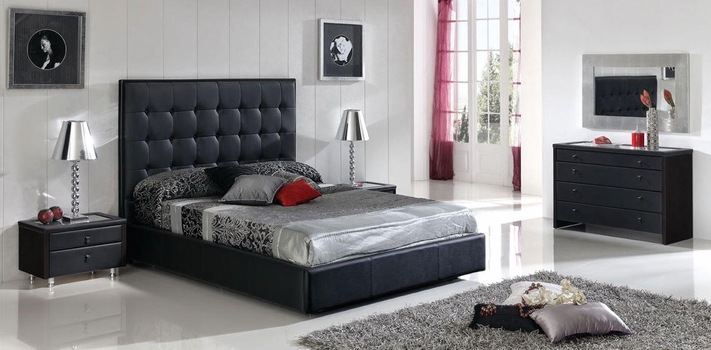 Stunning Chambre Mur Gris Meuble Noir Photos - House Design ...