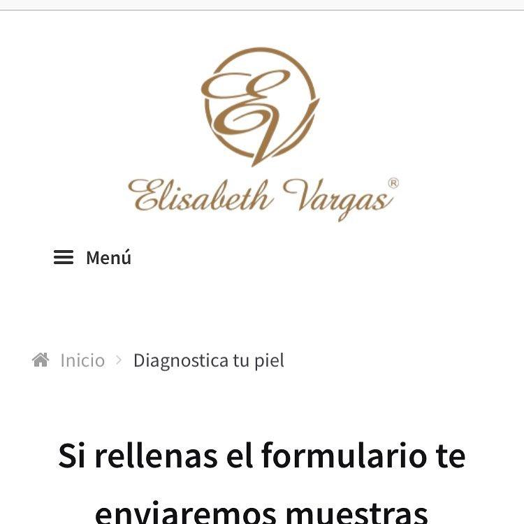 Muestras Alta Cosmetica. Elisabeth Vargas Cosmetic
