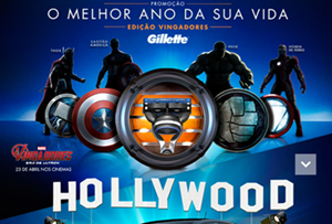 Promoção Gillette- O melhor ano da sua vida (Edição Vingadores)