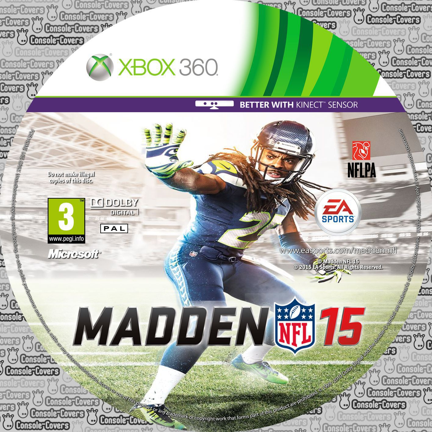 Label Madden NFL 15 Xbox 360